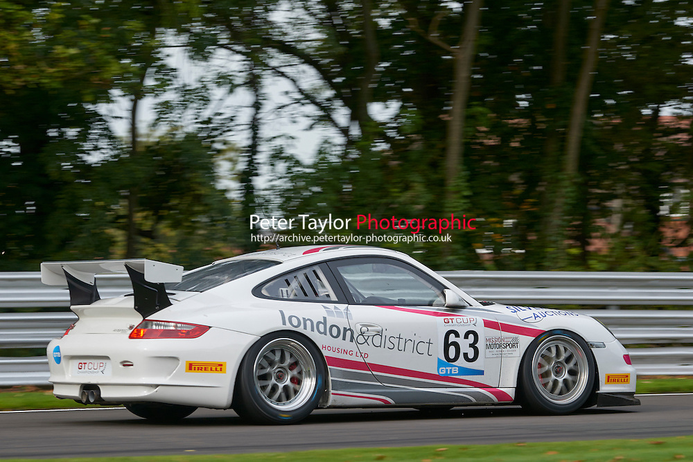 #63 Dominic MALONE Porsche 997 GT3 Cup during GT Cup - Qualifying as part of the MSVR Oulton Park 10th October 2015 at Oulton Park, Little Budworth, Cheshire, United Kingdom. October 10 2015. World Copyright Taylor/PSP. Copy of publication required for printed pictures.  Every used picture is fee-liable. http://archive.petertaylor-photographic.co.uk