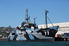 Dunedin-Anti whaling campaign Sea Shepherd's Steve Irwin in port