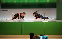 DEU, Deutschland, Germany, Berlin, 26.06.2020: Dr. Robert Habeck und Annalena Baerbock, Bundesvorsitzende von BÜNDNIS 90/DIE GRÜNEN, bei der Pressekonferenz zur Vorstellung des ersten Entwurfes des Bundesvorstandes zum neuen Grundsatzprogramm von BÜNDNIS 90/DIE GRÜNEN im Amplifier Berlin.