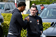 Lewis Cook (16) of AFC Bournemouth and Lys Mousset (31) of AFC Bournemouth arriving before the Premier League match between Bournemouth and Crystal Palace at the Vitality Stadium, Bournemouth, England on 7 April 2018. Picture by Graham Hunt.