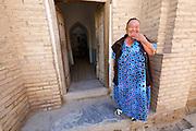 Uzbekistan, Khiva.<br /> Uzbek woman.