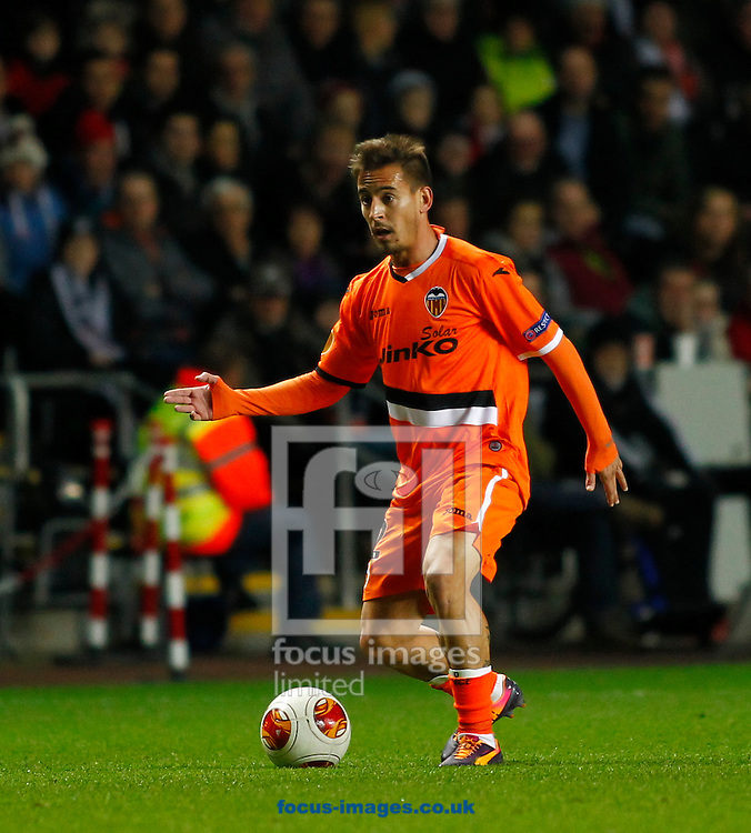 Picture by Mike  Griffiths/Focus Images Ltd +44 7766 223933<br /> 28/11/2013<br /> Joao Pereira of Valencia Club de F&uacute;tbol during the UEFA Europa League match at the Liberty Stadium, Swansea.