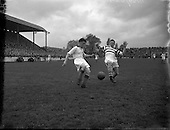 1954 - Soccer: Evergreen United v Shamrock Rovers at Glenmalure Park,  Milltown