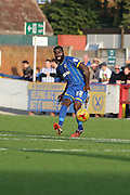 Karleigh Osborne of AFC Wimbledon send a through ball during the Sky Bet League 2 match between AFC Wimbledon and Hartlepool United at the Cherry Red Records Stadium, Kingston, England on 31 October 2015. Photo by Stuart Butcher.