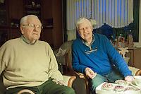 Heinz & Klaus at Heinz & Ilse's home.