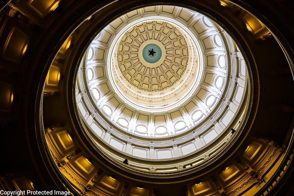 Dome in Texas State Capitol building, in Austin, TX