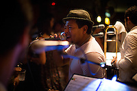 Medellin, Colombia- March 15, 2015: The band keeps the dance floor jumping at Son Havana, an intimate Cuban-themed salsa bar in the Laureles neighborhood. CREDIT: Chris Carmichael for The New York Times