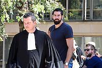 Mickael Corbier (avocat) / Nikola Karabatic - 17.06.2015 - Proces des paris sportifs du Handball - Montpellier<br /> Photo : Alexandre Dimou / Icon Sport