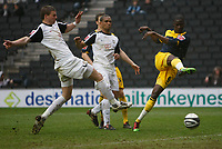 Photo: Steve Bond/Richard Lane Photography. MK Dons v Southampton. Coca-Cola Football League One. 20/03/2010. Papa Waigo N'Diaye (R) shoots
