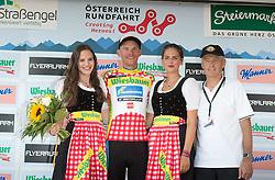 07.07.2015, Judendorf, AUT, Österreich Radrundfahrt, 3. Etappe, Windischgarsten nach Judendorf, im Bild Matthias Krizek (AUT, 1. Platz Bergwertung), Rudolf Mitteregger (AUT, 3x Rundfahrtssieger) // 1st king of the mountains Matthias Krizek of Austria cycling legend Rudolf Mitteregger of Austria during the Tour of Austria, 3rd Stage, from Windischgarsten to Judendorf, Judendorf, Austria on 2015/07/07. EXPA Pictures © 2015, PhotoCredit: EXPA/ Reinhard Eisenbauer