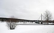 Rovaniemi the Lumberjack's Candle Bridge, Lapland, Finland