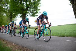 Hannah Payton of Trek-Drops digs deep on Stage 1 of the Festival Elsy Jacobs - a 97.7 km road race, starting and finishing in Steinfort on April 28, 2018, in Luxembourg. (Photo by Balint Hamvas/Velofocus.com)
