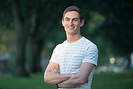 9/24/15 – Medford/Somerville, MA – Kevin Lustgarten, A18, poses for a portrait on the Academic Quad on Thursday, Sep. 24, 2015. (Evan Sayles / The Tufts Daily)