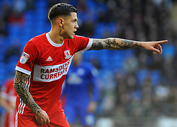 Muhamed Besic of Middlesbrough gives orders - Mandatory by-line: Nizaam Jones/JMP - 17/02/2018 -  FOOTBALL - Cardiff City Stadium - Cardiff, Wales -  Cardiff City v Middlesbrough - Sky Bet Championship