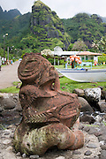 Tiki, Hanavave, Island of Fatu Hiva, Marquesas Islands, French Polynesia<br />