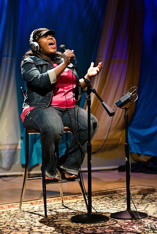LaKisha Jones at SIRIUS XM Radio's Hugh Panero Performance Theater