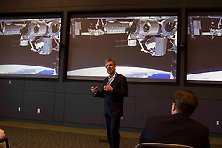 Robert Bigelow, President of Bigelow Aerospace, discussing Dragon Mission and SpaceX launch at Kennedy Space Center.