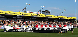 26.05.2019, TGW Arena, Pasching, AUT, 1. FBL, LASK vs FK Austria Wien, Meistergruppe, 32. Spieltag, im Bild Die LASK feiert den Vizemeister // during the tipico Bundesliga master group 32th round match between LASK and FK Austria Wien at the TGW Arena in Pasching, Austria on 2019/05/26. EXPA Pictures © 2019, PhotoCredit: EXPA/ Reinhard Eisenbauer