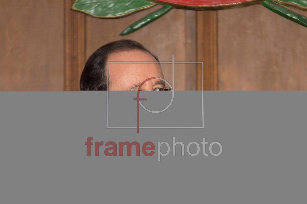 """São Paulo,(SP), 13/12/2013 - O governador de São Paulo Geraldo Alkmin, recebeu na manhã desta sexta feira,(13), no Palácio dos Bandeirantes, Morumbi, zona sul, o presidente da França,François Hollande,para a assinatura de dois acordos de cooperação entre São Paulo e França, o primeiro, inédito,formaliza a cooperação bi-lateral entre França e São Paulo,por intermédio da constituição de um Grupo de Trabalho bilateral. O segundo acordo estabelece """"2014: São Paulo e Île-de-France unidos pelo desenvolvimento urbano sustentável"""". Nesse ano, as duas regiões executarão um extenso programa de atividades em áreas como transportes, habitação, saneamento, energia e meio ambiente.Foto: Marco Ambrosio/Frame"""