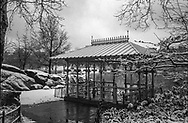 The Ladies' Pavillion at the Hernshead in Central Park. New York City.
