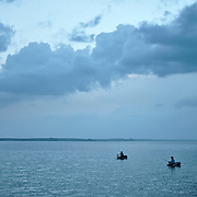 The calm waters of Cienfuegos Bay