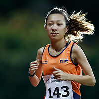 Belle Tan of National University of Singapore in action during the women's 5000m event. (Photo &copy; Lim Yong Teck/Red Sports) The 2018 Institute-Varsity-Polytechnic Track and Field Championships were held over three days in January.<br />