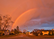 Rainbow after storm in Southdale Neigbourhood<br />