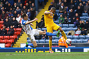 Jermaine Beckford shoots on his return to first team football after injury during the Sky Bet Championship match between Blackburn Rovers and Preston North End at Ewood Park, Blackburn, England on 2 April 2016. Photo by Pete Burns.