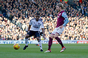 Aston Villa midfielder Birkir Bjarnason (20) plays a pass during the EFL Sky Bet Championship match between Fulham and Aston Villa at Craven Cottage, London, England on 17 February 2018. Picture by Andy Walter.