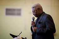 The Rev. Dr. McNair Ramsey, LCMS Southern District 2nd vice-president, speaks during the Legacy/Candlelight service on Friday, April 27, 2018, in the Lehman Center at Concordia College Alabama in Selma, Ala. LCMS Communications/Erik M. Lunsford