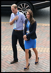 Image licensed to i-Images Picture Agency. 29/07/2014. Glasgow, United Kingdom. The Duke and Duchess of Cambridge arriving at Hampden Park, Glasgow to watch the Athletics competition  on day six of the Commonwealth Games.  Picture by Stephen Lock / i-Images