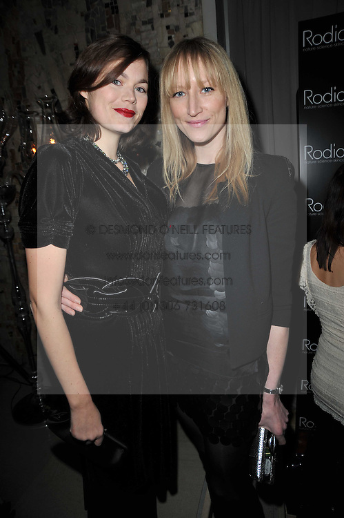 Left to right, JASMINE GUINNESS and JADE PARFITT at the 2nd Rodial Beautiful Awards in aid of the Hoping Foundation held at The Sanderson Hotel, 50 Berners Street, London on 1st February 2011.