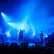COLUMBIA, MD - September 14th, 2014 - Jack White (center) performs at Merriweather Post Pavilion in Columbia, MD. White's career-spanning 20+ song set drew from his work with The White Stripes, The Dead Weather and The Raconteurs as well as his two solo albums.  (Photo by Kyle Gustafson / For The Washington Post)