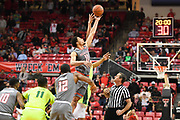 LUBBOCK, TX - DECEMBER 29: Zach Smith #11 of the Texas Tech Red Raiders wins the open tip against Tristan Clark #25 of the Baylor Bears during the game on December 29, 2017 at United Supermarket Arena in Lubbock, Texas. Texas Tech defeated Baylor 77-53. (Photo by John Weast/Getty Images) *** Local Caption *** Zach Smith;Tristan Clark