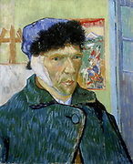 Self-Portrait with Bandaged Ear' 1889.  Vincent Van Gogh (1853-1890) Dutch Post-Impressionist artist.