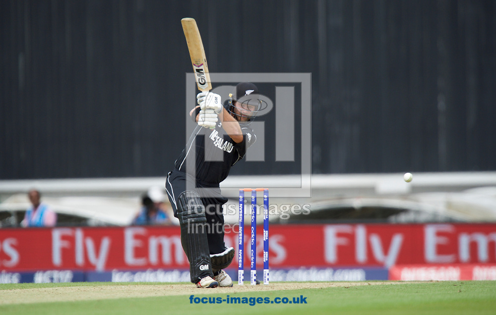 Corey Anderson of New Zealand hits a four during the 2017 ICC Champions Trophy warm up match at the Kia Oval, London<br /> Picture by Alan Stanford/Focus Images Ltd +44 7915 056117<br /> 28/05/2017