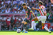 Leeds United midfielder Mateusz Klich (43) passes the ball during the EFL Sky Bet Championship match between Stoke City and Leeds United at the Bet365 Stadium, Stoke-on-Trent, England on 24 August 2019.