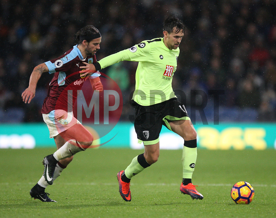 George Boyd of Burnley (L) and Charlie Daniels of Bournemouth Bournemouth - Mandatory by-line: Jack Phillips/JMP - 10/12/2016 - FOOTBALL - Turf Moor - Burnley, England - Burnley v AFC Bournemouth - Premier League