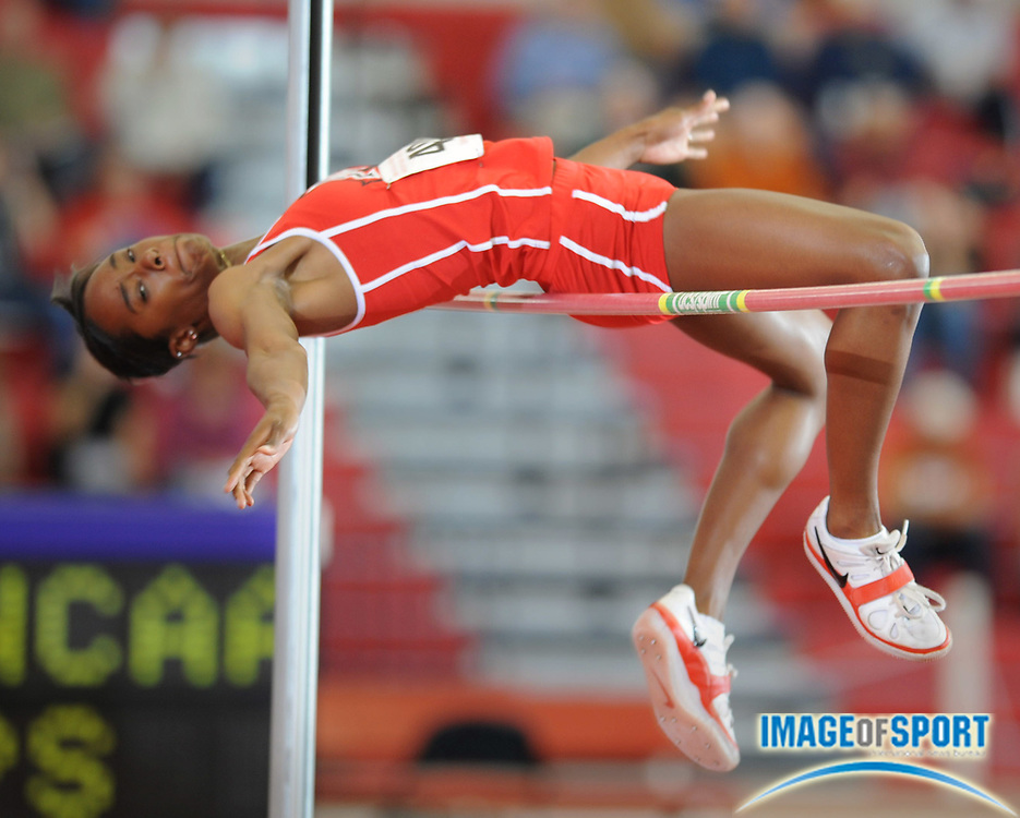 Mar 14, 2008; Fayetteville, AR, USA; Brittany Reese of Mississippi was third in the women's high jump at 6-1 1/4 (1.86m) in the NCAA indoor track and field championships at the Randal Tyson Center.