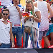 NLD/Amsterdam/20180604 - Gaypride 2018, Monique Smit op de Eurovision boot