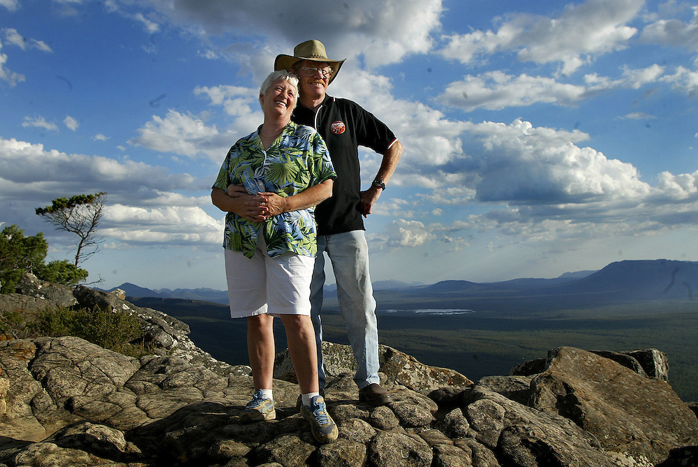 csz040227.001.001.jpg  Retirees Suzanne Tregellis and David Dickson travelling Australia, in the Grampians  Pic By Craig Sillitoe SPECIAL RETIRED melbourne photographers, commercial photographers, industrial photographers, corporate photographer, architectural photographers, This photograph can be used for non commercial uses with attribution. Credit: Craig Sillitoe Photography / http://www.csillitoe.com<br />