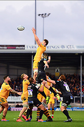 Wasps line out  - Mandatory by-line: Dougie Allward/JMP - 30/11/2019 - RUGBY - Sandy Park - Exeter, England - Exeter Chiefs v Wasps - Gallagher Premiership Rugby