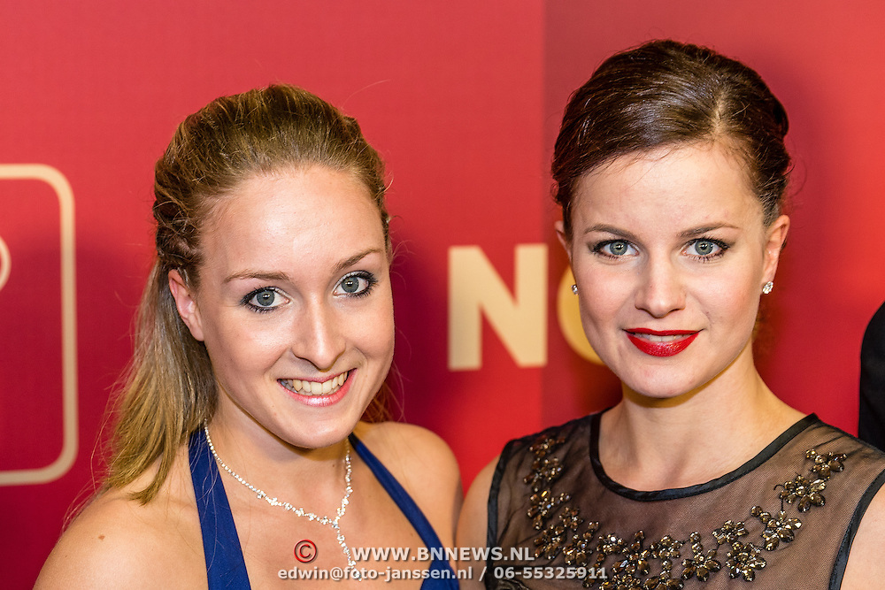 NLD/Amsterdam/20161221 - NOC*NSF Sportgala 2016, Celine van Gerner en partner