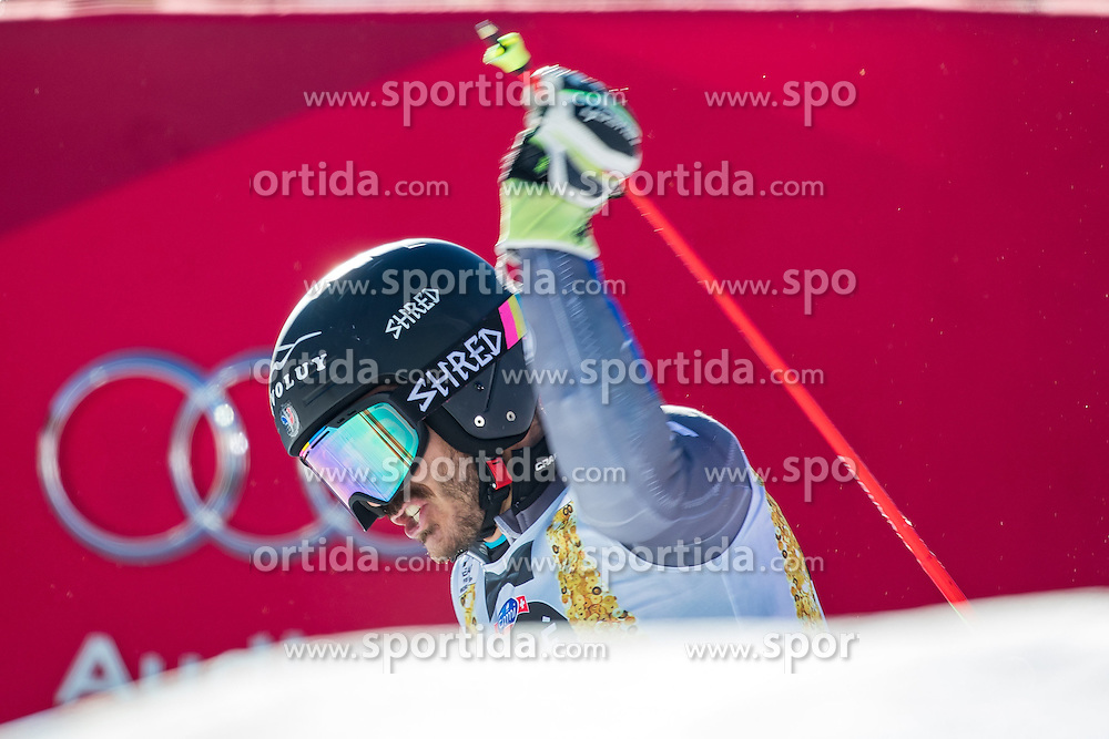 18.12.2016, Grand Risa, La Villa, ITA, FIS Ski Weltcup, Alta Badia, Riesenslalom, Herren, 2. Lauf, im Bild Cyprien Sarrazin (FRA) // Cyprien Sarrazin of France reacts after his 2nd run of men's Giant Slalom of FIS ski alpine world cup at the Grand Risa race Course in La Villa, Italy on 2016/12/18. EXPA Pictures © 2016, PhotoCredit: EXPA/ Johann Groder