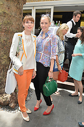 Left to right, ELENA SHCHUKINA and NADYA ABELA at a ladies lunch at Toto's, Walton Street, London on 12th June 2014.