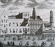The Peace of Utrecht.  The City Hall in Utrecht where in 1713 the plenipotentiaries to the peace that ended the Spanish Succession Chen war, came together.
