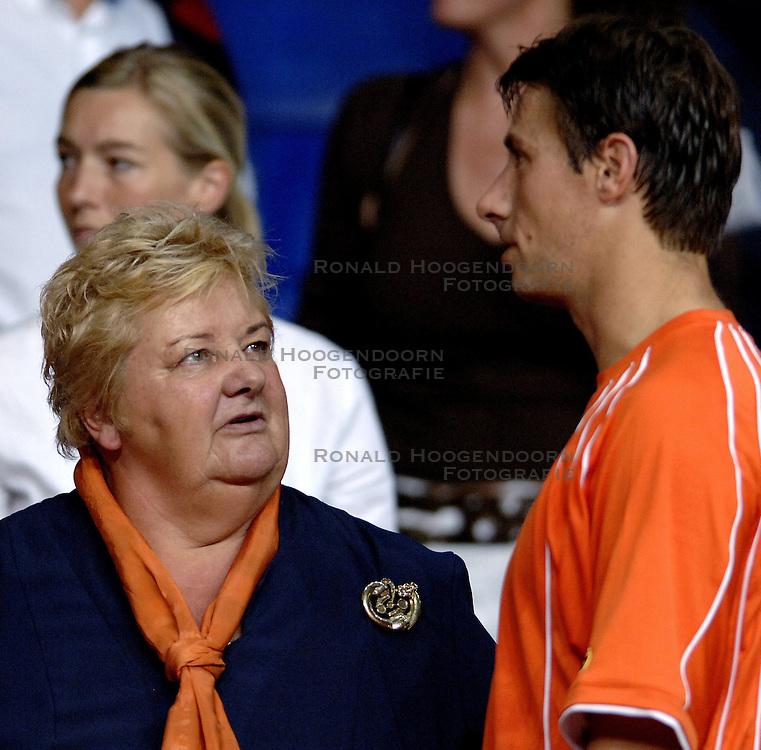 23-09-2006 TENNIS: DAVIS CUP: NEDERLAND - TSJECHIE: LEIDEN <br /> Erica Terpstra<br /> ©2006-WWW.FOTOHOOGENDOORN.NL