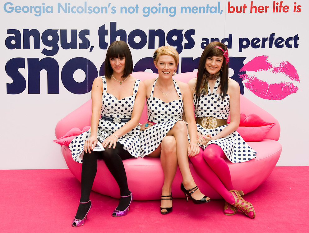 London July 16th  Girl band the Pipettes arrives for the UK premiere for the film Angus, thongs and perfect snogging at the Empire Leicester Square  on July 16th 2008