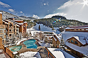 Intrawest's 'Legends' property in Whistler Creekside in winter.