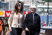 May 20-24, 2015: Monaco - Bernie Ecclestone with his wife Fabiana Flosi